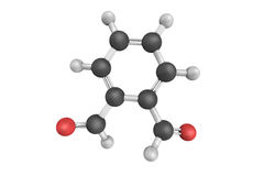 3d structure of o-Phthalaldehyde, also known as ortho-phthalaldehyde Royalty Free Stock Image