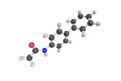 3d structure of p-Phenylacetanilide, linked with salmonella Stock Photography