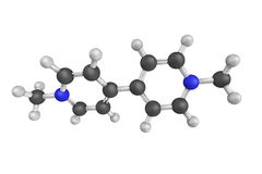 3d structure of Paraquat, an organic compound classified as a vi Stock Photo
