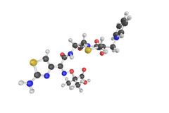 3d structure of Pentacef, also known as Ceftazidime stock illustration