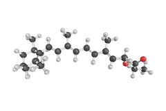 3d structure of Retinyl propionate, a mild, tolerable retinoid. royalty free illustration