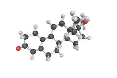 3d structure of Tetrahydrogestrinone (THG), an anabolic steroid Royalty Free Stock Image