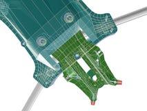 3d structuur Abstracte 3D geeft terug Vector Illustratie
