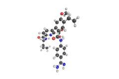 3d structuur van Avoralstat, een klein-moleculesamenstelling voor of Stock Afbeeldingen