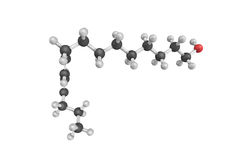 3d structuur van bombykol, feromonen door vrouwelijk worden vrijgegeven die sil Stock Afbeelding