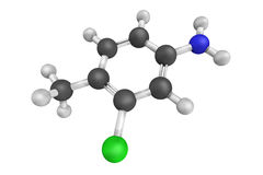 3d structuur van de giftige stof van Starlicide of van de meeuw, een chemische avicide royalty-vrije illustratie