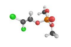 3d structuur van Dichlorvos, een organofosfaat, als a wijd wordt gebruikt die Stock Fotografie