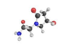 3d structuur van Oxiracetam, een nootropic drug van racetamfami Stock Foto's