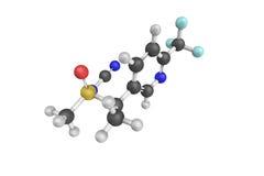 3d structuur van Sulfoxaflor, een systemisch insecticide dat a handelt Stock Afbeeldingen