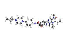 3d structuur van Volasertib, een kleine moleculeinhibitor van PL Stock Afbeeldingen