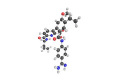 3d struktur av Avoralstat, enmolekyl sammansättning för eller Arkivbilder