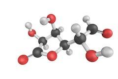 3d struktur av Glucuronolactone, för a uppstående kemikalie naturligt - royaltyfri illustrationer