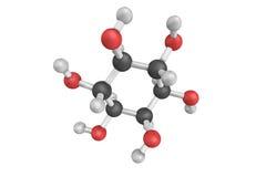 3d struktur av Inositol, enveck alkohol av cyclohexane Det Arkivbilder