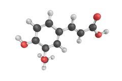 3d struktura Ferulic kwas, hydroxycinnamic kwas i typ, royalty ilustracja