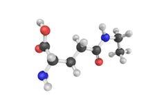 3d struktura Theanine, amino zjadliwy analog Zdjęcia Royalty Free