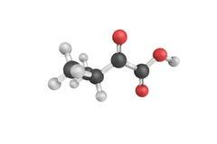 3d struttura dell'acido dell'alfa-Ketoisovaleric, un metabolita del valin Fotografie Stock