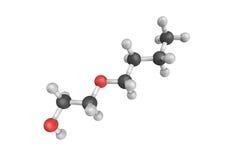 3d struttura di 2-Butoxyethanolm, un liquido incolore con uno swee Fotografia Stock