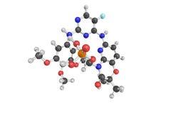 3d struttura di Fostamatinib, un candidato sperimentale della droga per Fotografia Stock Libera da Diritti