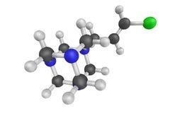3d struttura di Quaternium-15, un sale di ammonio quaternario illustrazione di stock