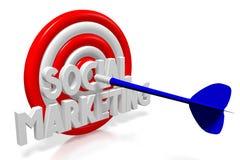 3D strzałek ilustracja - ogólnospołeczny marketing Zdjęcia Stock