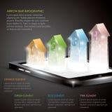 3D strzała infographic Fotografia Stock