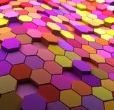 3D stubarwnego abstrakta kafelkowy tło Zdjęcia Royalty Free