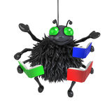 3d Student spider Stock Photography