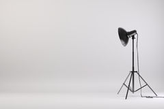 3d studio setup with lights and white background. Computer generated stock illustration