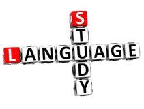 3D Study Language Crossword Stock Images