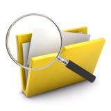 3d Study yellow folder Stock Photography