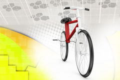 3d with stunt bike illustration Stock Photos