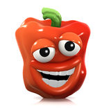 3d Stupid red pepper Royalty Free Stock Image