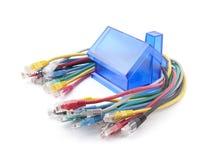 3d stwarzać ognisko domowe laptopów sieci routera trzy Obraz Stock