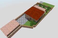 3D stwarzają ognisko domowe Obrazy Stock