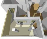 3D stwarzają ognisko domowe Fotografia Royalty Free