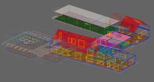 3D stwarzają ognisko domowe plan Fotografia Stock