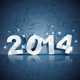 3d style new year. Beautiful 3d style 2014 happy new year design Stock Image