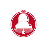 3d stylish bell isolated on white. Detailed high quality illustr Royalty Free Stock Photo