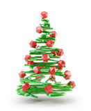3D stylized Christmas tree Royalty Free Stock Photo