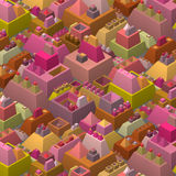 3d stylized futuristic city in multiple bright color Royalty Free Stock Photos