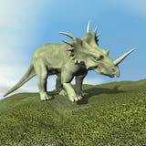 3D Styracosaurusdinosaurus - geef terug Royalty-vrije Stock Afbeeldingen