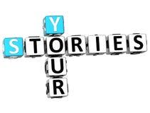 3D suas palavras cruzadas das histórias Imagens de Stock