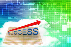 3d Success Arrow Graph  Illustration Royalty Free Stock Photo