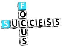 3D Success Focus Crossword Royalty Free Stock Photo