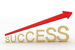 3d success graph with arrow Stock Photos