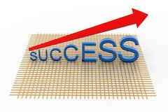 3D Success Graph Royalty Free Stock Image