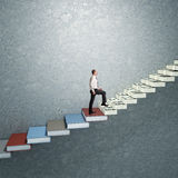 3d success stair Royalty Free Stock Photo