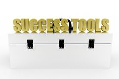 3d Success Tools Toolbox Royalty Free Stock Images