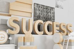 3d Success word. 3d irendering llustration. Success word. Business concepts Stock Photography