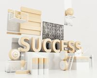 3d Success word. 3d irendering llustration. Success word. Business concepts Stock Photo